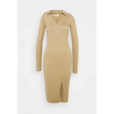 フォース アンド レックス レディース ワンピース トップス ALBANDY DRESS - Jumper dress - beige beige