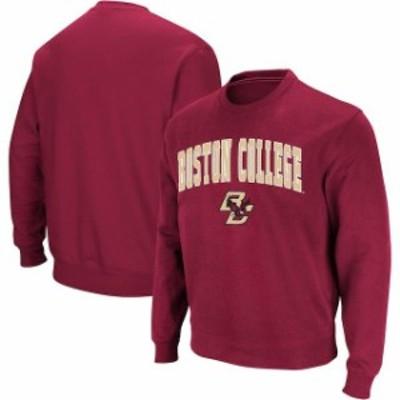 Colosseum コロセウム スポーツ用品  Colosseum Boston College Eagles Maroon Arch & Logo Crew Neck Sweatshirt