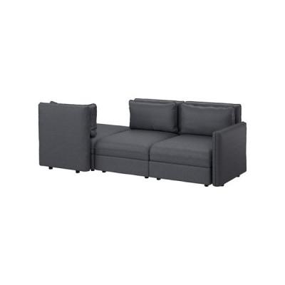 IKEA/イケア VALLENTUNA 3人掛けソファ, ヒッラレド ダークグレー (791.625.89)