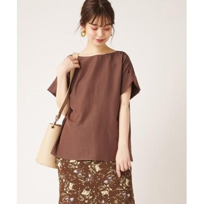 natural couture / 袖口ロールアップさらっとゆるブラウス WOMEN トップス > シャツ/ブラウス