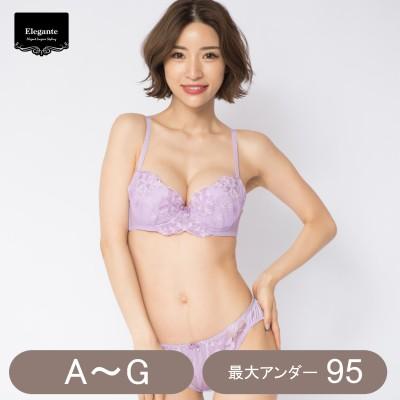 大花レースブラ&ショーツセット(エレガンテ/Elegante)