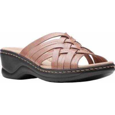 クラークス レディース サンダル シューズ Women's Clarks Lexi Selina Slide Dusty Pink Leather