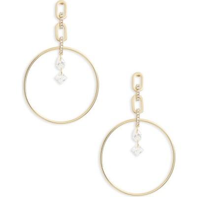 ノードストローム NORDSTROM レディース イヤリング・ピアス ドロップピアス フープピアス ジュエリー・アクセサリー Pave Link Hoop Drop Earrings Clear/Gold