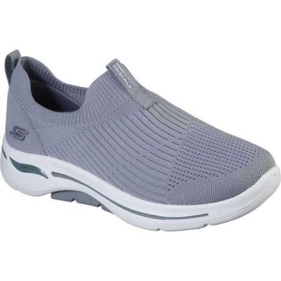 スケッチャーズ Skechers レディース ランニング・ウォーキング スリッポン シューズ・靴 GOwalk Arch Fit Iconic Slip-On Gray