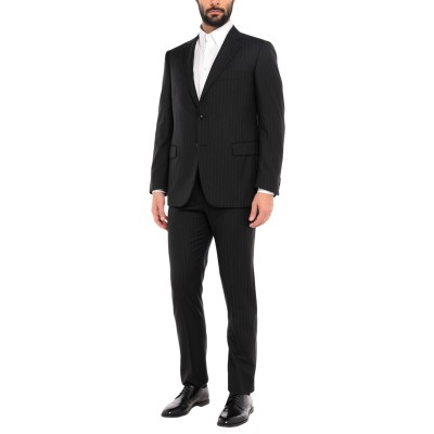 ETHOMAS スーツ ブラック 50 スーパー130 ウール 100% スーツ