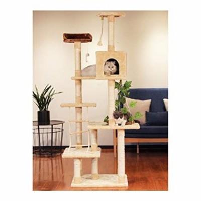 キャットタワー 猫タワー 大型猫 ネコタワー 拡張可能 運動不足解消 遊具  (中古品)