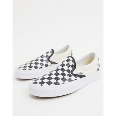 バンズ レディース スニーカー シューズ Vans Slip-On confetti sneakers in black/white