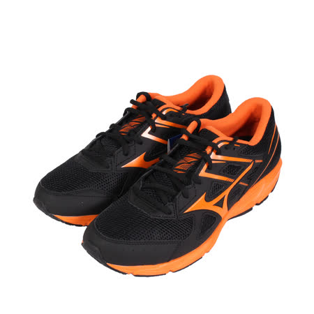 MIZUNO 男 MAXIMIZER 22 一般型寬楦慢跑鞋 黑橘 - K1GA210054
