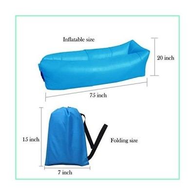 Mojo Inflatable Lounger Air Sofa Hammock-Portable,Water Proof& Anti-Air Leaking Design-Ideal Couch for Backyard Lakeside Beach Traveling Cam