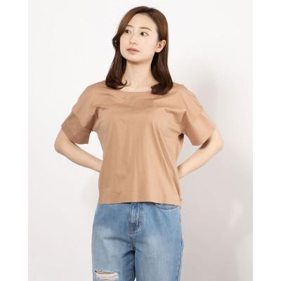 リネーム Rename バックオープンハーフスリーブTeeシャツ(モロカンピンク)