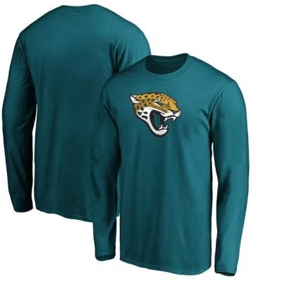 ジャクソンビル・ジャガーズ Fanatics Branded Primary Logo Long Sleeve T-シャツ - Teal
