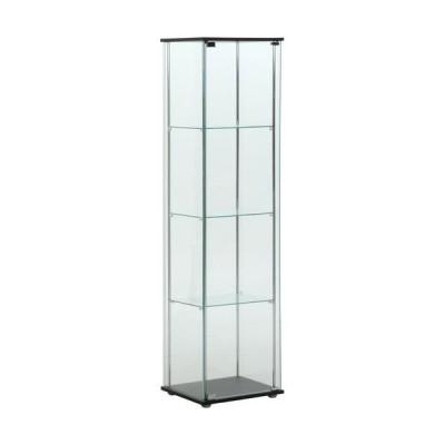 不二貿易 ガラスコレクションケース 4段/96047