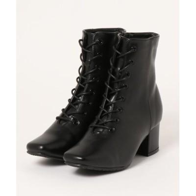 Parade ワシントン靴店 / 【きれいめ】スクエアトゥ レースアップブーツ ZWB8509 WOMEN シューズ > ブーツ