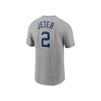 ナイキ Tシャツ トップス メンズ New York Yankees Men's Coop Name and Number Player T-Shirt Derek Jeter Gray