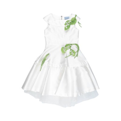 MIMISOL ワンピース&ドレス ホワイト 4 ポリエステル 85% / シルク 15% ワンピース&ドレス