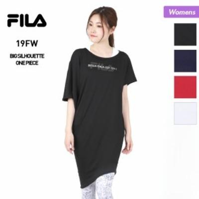 【GW限定 さらに最大5%OFF券配布中】 FILA フィラ レディース ビッグシルエット Tシャツ 349517 ティーシャツ ワンピース フィットネス