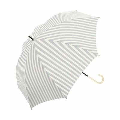 完全遮光 長傘 50cm 手開き 晴雨兼用 遮光100% 遮蔽99% UVカット UPF50+ グレー