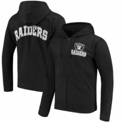 Junk Food ジャンク フード スポーツ用品  Oakland Raiders Black Quarterback Full-Zip Hoodie