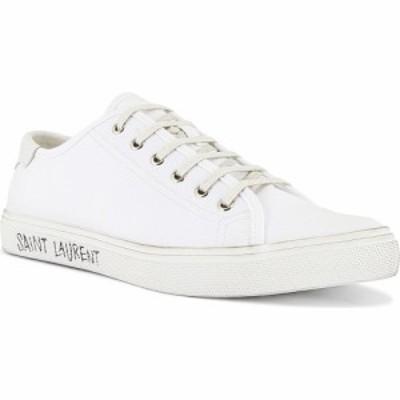 イヴ サンローラン Saint Laurent メンズ スニーカー ローカット シューズ・靴 Malibu Low Top Sneaker Optic White