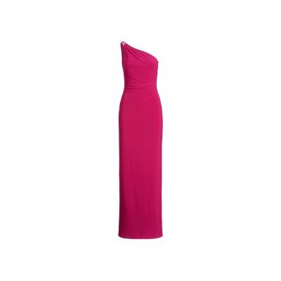 LAUREN RALPH LAUREN ロングワンピース&ドレス ガーネット 8 ポリエステル 95% / ポリウレタン 5% ロングワンピース&ド