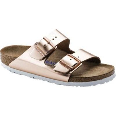 ビルケンシュトック Birkenstock レディース サンダル・ミュール シューズ・靴 Arizona Soft Footbed Leather Sandal Copper Metallic