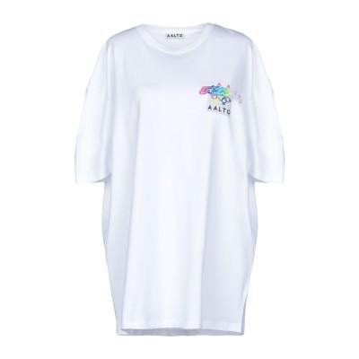 アールト AALTO T シャツ ホワイト 38 コットン 97% / ポリウレタン 3% T シャツ