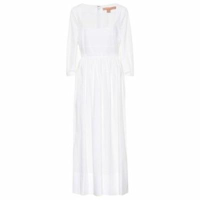 ブロック コレクション Brock Collection レディース ワンピース ミドル丈 ワンピース・ドレス ondina stretch-cotton midi dress White