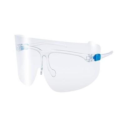 YAMAMOTO(山本光学) スタンダードモデル YF-800S くもり止め超軽量フェイスシールドグラス 本体セット(フレーム1本+レンズ3