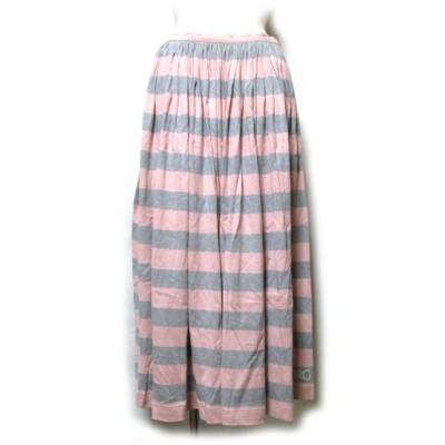 Vintage INGEBORG ヴィンテージ インゲボルグ ボーダー ロングスカート
