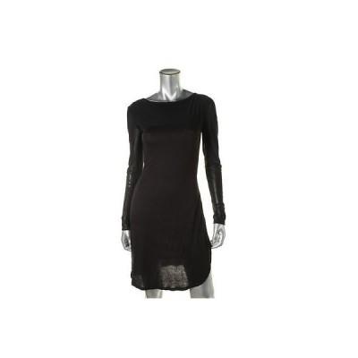 キャサリンマランドリーノ ドレス ワンピース キャットherine Malandrino 5188 レディース ブラック mesh Inset Jersey Party ドレス S BHFO