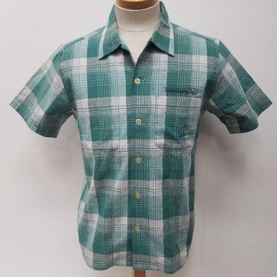 RADIALL ラディアル 半袖 シャツ、ブラウス Shirt, Blouse ロゴ刺繍入り チェック 半袖 シャツ オープンカラー シャツ 10003152