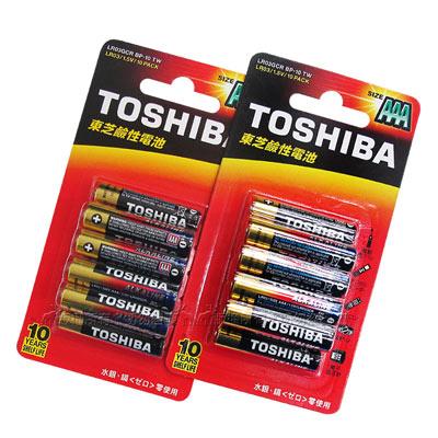 東芝TOSHIBA 持久型鹼性電池 AAA (4號20顆入)