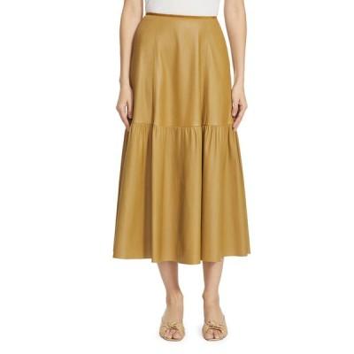 ラファイエットワンフォーエイト レディース スカート ボトムス Safford Tiered Leather Skirt