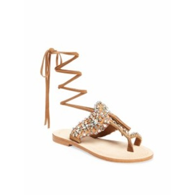 アンティクバティック レディース シューズ サンダル Betsy Embellished Lace-Up Sandal