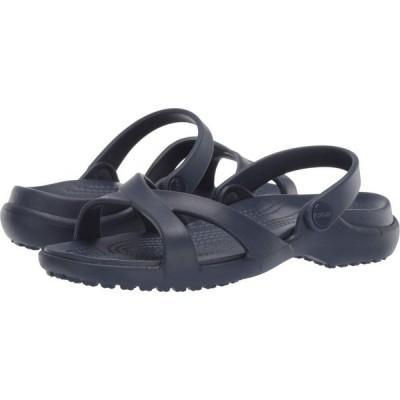 クロックス Crocs レディース サンダル・ミュール シューズ・靴 Meleen Crossband Sandal Navy
