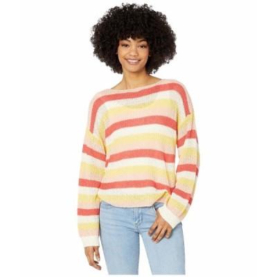 カップケーキアンドカシミア ニット&セーター アウター レディース Lex Multi Stripe Boucle Yarn Boatneck Sweater Ivory