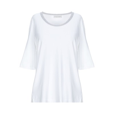 LE TRICOT PERUGIA T シャツ ホワイト XL レーヨン 96% / ポリウレタン 4% T シャツ