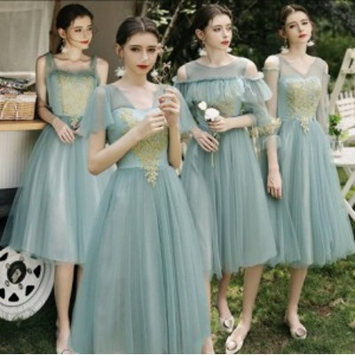 ブライズメイド ドレス パーティードレス 結婚式 ワンピース 大きいサイズ お呼ばれ 二次会 披露宴 成人式 同窓会 フォーマル レディース