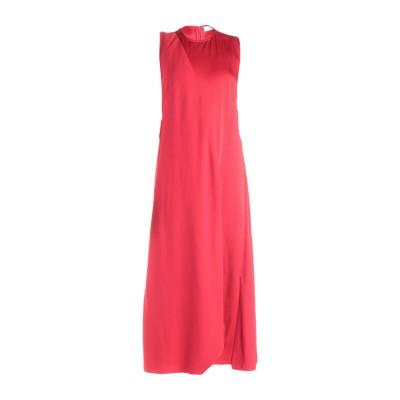 VICTORIA BECKHAM 7分丈ワンピース・ドレス レッド 8 アセテート 69% / レーヨン 31% 7分丈ワンピース・ドレス