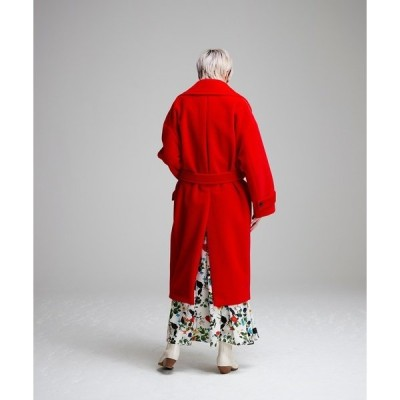 アウター 2way shaggy oversize coat