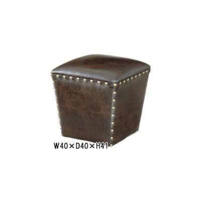 スツール 丸椅子 椅子/ラフな存在感/レザー/1個/W40 D40 H41