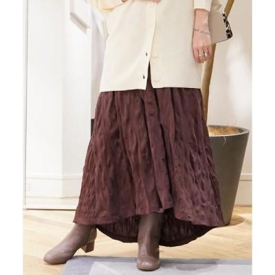TOMORROWLAND / トゥモローランド コットンポリエステルジャージー ギャザースカート