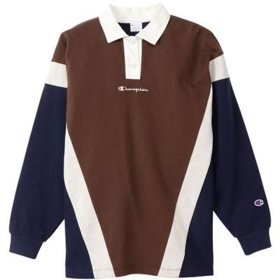 Champion チャンピオン レディース L/S RUGBY SHIRT カジュアルナガソデTシャツ (cws410-386)