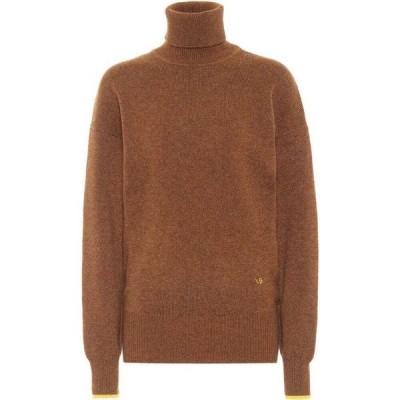 ヴィクトリア ベッカム Victoria Beckham レディース ニット・セーター タートルネック トップス Cashmere turtleneck sweater Brown/Yellow