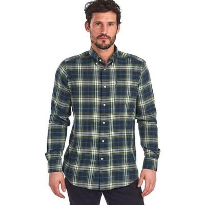 バブアー Barbour メンズ シャツ トップス Eco 1 Tailored Shirt Navy