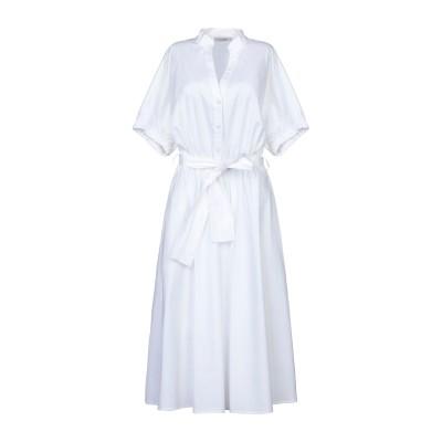 FLY GIRL 7分丈ワンピース・ドレス ホワイト L コットン 98% / ポリウレタン 2% 7分丈ワンピース・ドレス