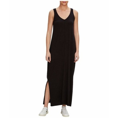 マイケルスターズ ワンピース トップス レディース Trina Cotton Modal V-Neck Maxi Dress Black
