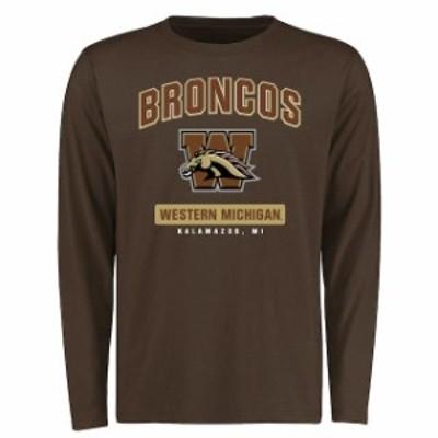 Fanatics Branded ファナティクス ブランド スポーツ用品  Western Michigan Broncos Brown Campus Icon Long Sleeve T