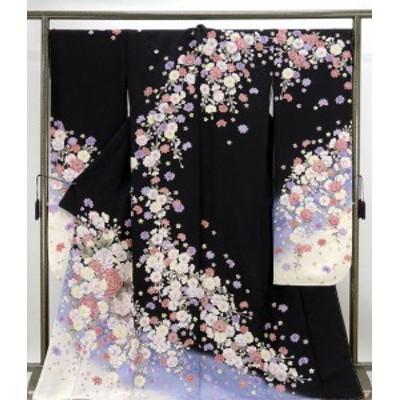 振袖 新品仕立済 正絹 薔薇桜模様 振袖 新品  仕立て上がり  着物
