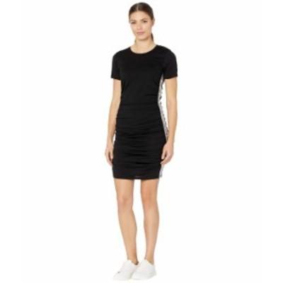 マイケルコース レディース ワンピース トップス Shirred Logo Trim Dress Black